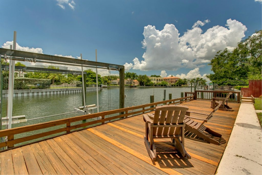 106 Adalia Davis Islands Waterfront Home for Sale Cristan Fadal Dock Waterview